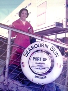 Sue Paul on cruise ship